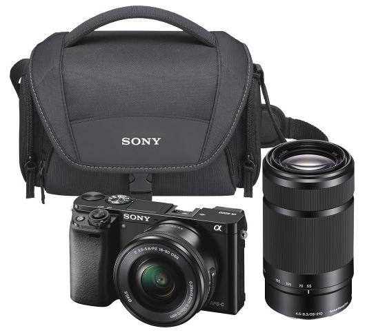 Sony Alpha a6000 Mirrorless Camera with 16-50mm and 55-210mm Lens Kit