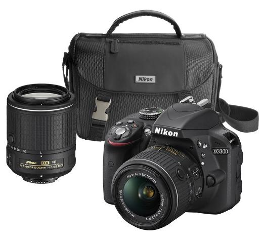 Nikon D3300 DSLR Camera with 18-55mm and 55-200mm VR II Lenses