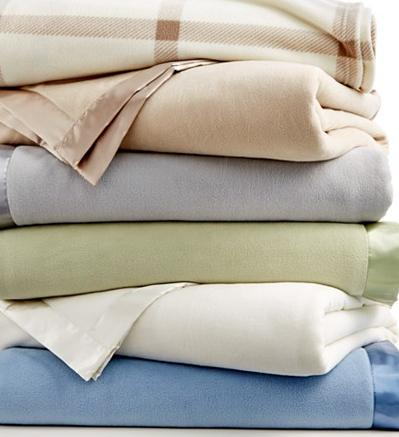 Martha Stewart Collection Soft Fleece Blankets(Any Sizes) On Sale @ macys.com