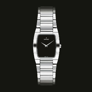 Movado Women's Eliro Stainless Steel Black Dial Watch MOV-0605378