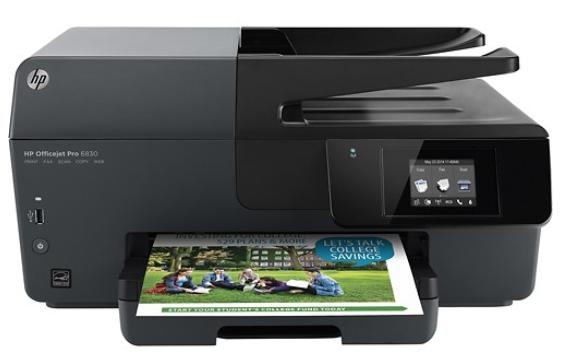 HP - Officejet Pro 6830 Wireless e-All-In-One Printer - Black