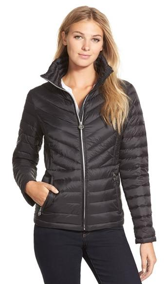 MICHAEL Michael Kors Stand Collar Packable Down Jacket