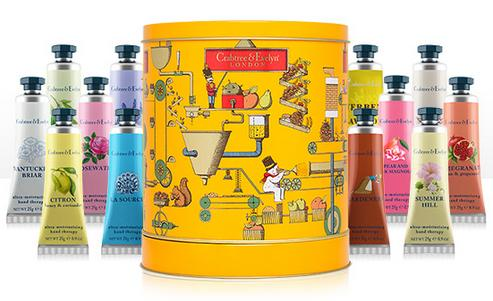 Crabtree & Evelyn Hand Therapy Musical Tin Set of Twelve
