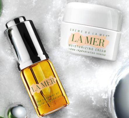 Duluxe samples of New Renewal Oil + Creme de La Mer With Any Purchase @ La Mer