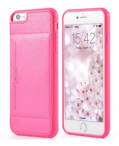 iPhone 6/6S Plus (5.5in) ZVE Slim Protective Leather Wallet/Card Case