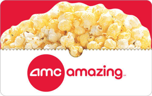 FREE Popcorn Voucher ($6 Value) $25 AMC® Gift Card