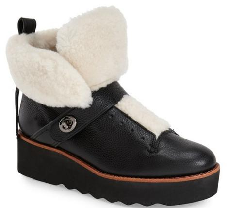 COACH 'Urban Hiker' Genuine Shearling Boot On Sale @ Nordstrom