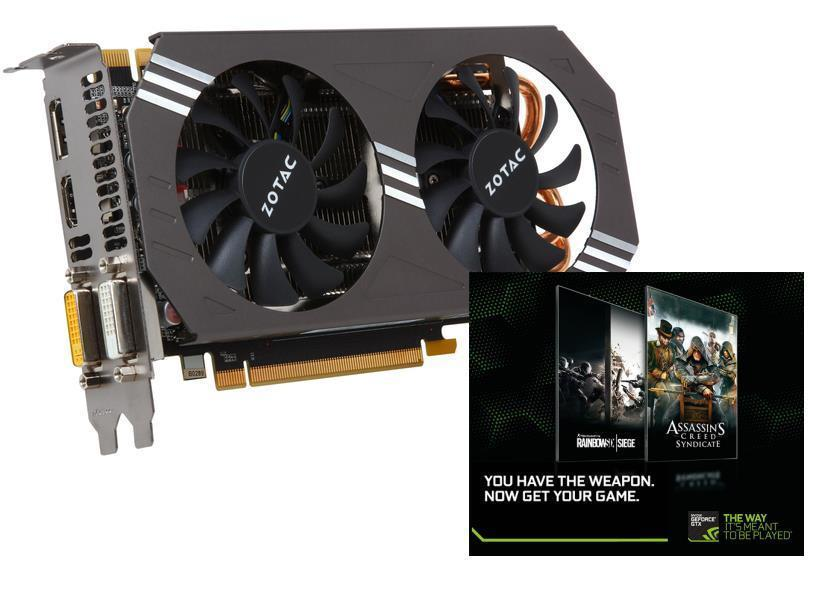 $249.99 ZOTAC GeForce GTX 970 ZT-90101-10P 4GB 256-Bit GDDR5 PCI Express 3.0 x16 HDCP Ready SLI Support G-SYNC Support Video Card+ free game