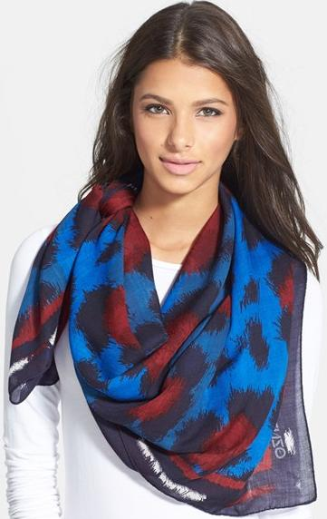 KENZO 'Leopard' Wool Scarf On Sale @ Nordstrom