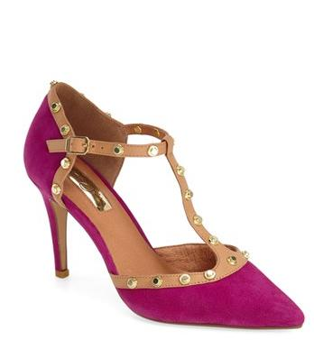Halogen® 'Martine' Studded T-Strap Pump (Women) @ Nordstrom