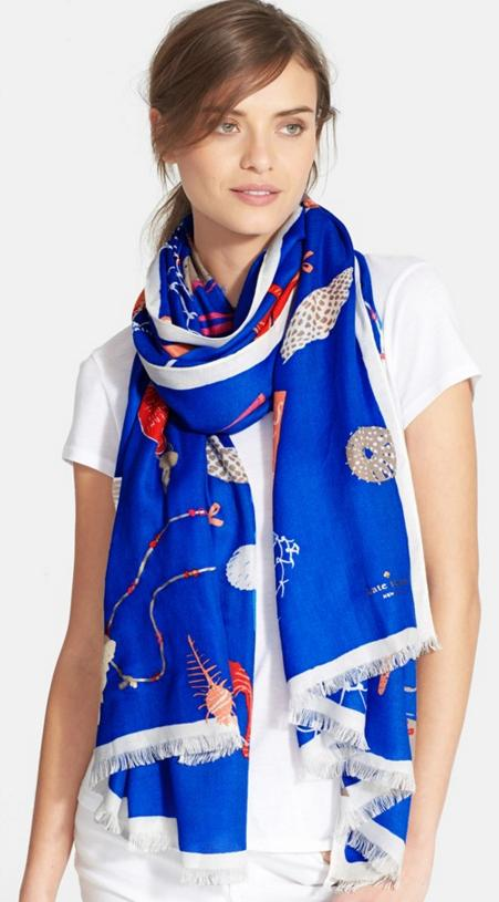 kate spade new york 'beach blanket' scarf On Sale @ Nordstrom