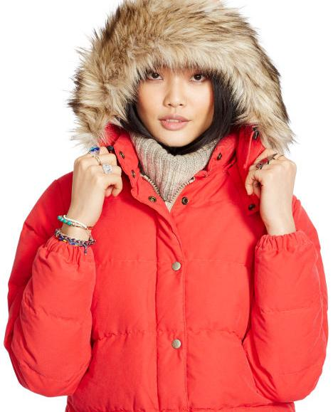 Detachable-Hood Down Jacket @ Ralph Lauren