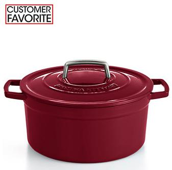 Martha Stewart Collection Collector's Enameled Cast Iron 6 Qt. Round Casserole(11 colors)