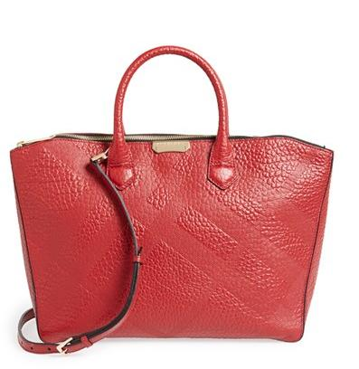 Burberry 'Medium Dewsbury' Check Embossed Leather Tote @ Nordstrom