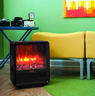Crane Fireplace Space Heater - Black