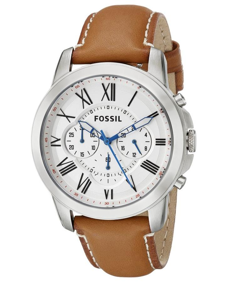 Fossil Men's FS5060 Grant Analog Display Analog Quartz Brown Watch