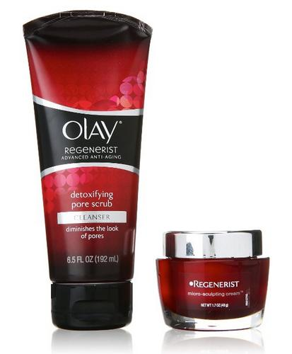 $18.71 Olay Regenerist Micro-Sculpting Cream And Detoxifying Pore Scrub Duo Pack 1 Kit