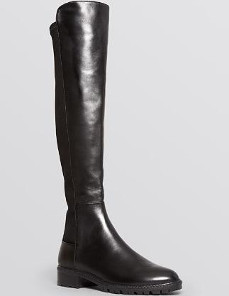 Stuart Weitzman Flat Tall Boots - Lugmainline Stretch @ Bloomingdales