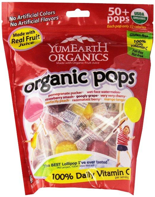 $3.35 YumEarth Organic Lollipops, 12.3 Ounce Bag