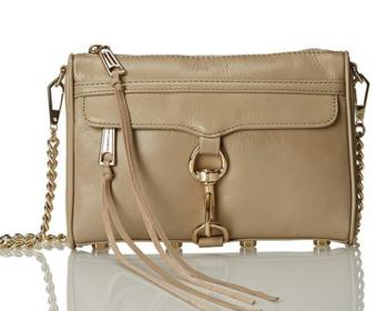 Rebecca Minkoff Mini Mac Cross Body Bag, Khaki