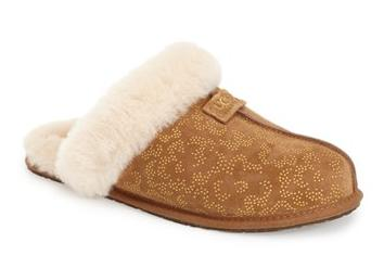 UGG® Australia 'Scuffette II' Metallic Conifer Slipper