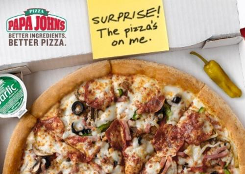 Free Large 1-Topping Pizza $25 Papa John's eGift Card