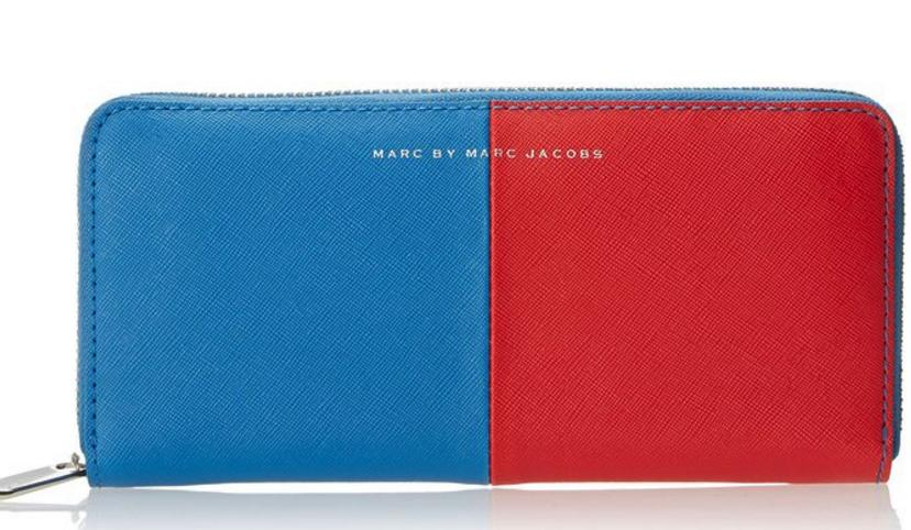$45.12 Marc by Marc Jacobs Sophisticato Halfsies Slim Zip Around Wallet