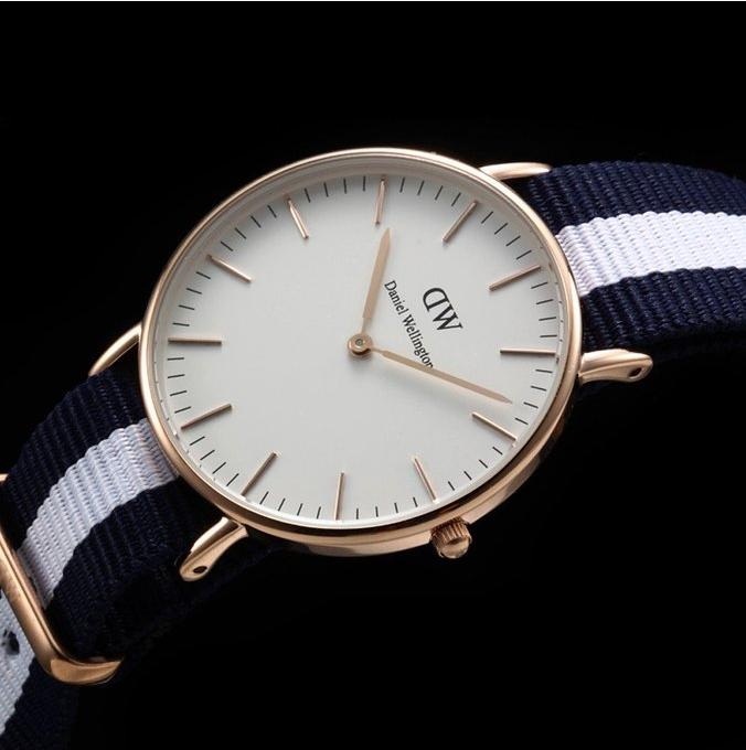 $78.99(原价$175) Daniel Wellington Glasgow Analog Display女士白盘时装腕表0503DW