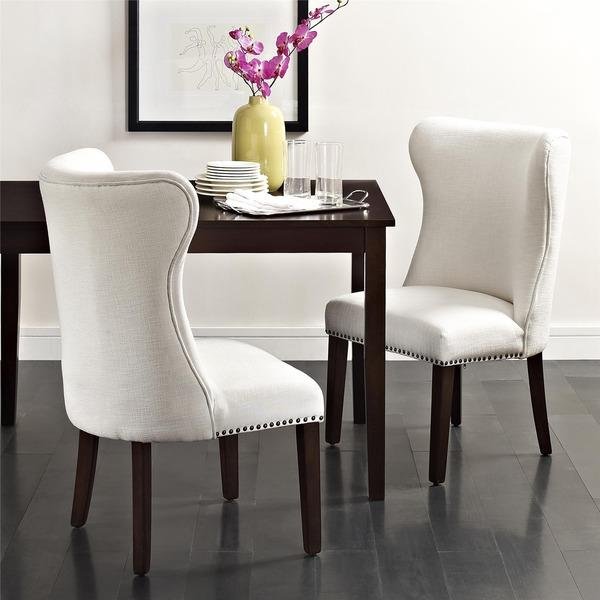 Bailey Accent Chair with Nailheads, White DA7030-W