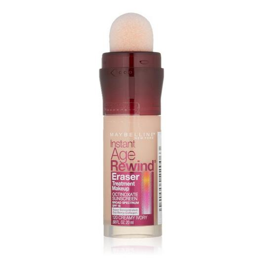 Maybelline New York Instant Age Rewind Eraser Treatment Makeup, Creamy Ivory 120, 0.68 Fluid Ounce