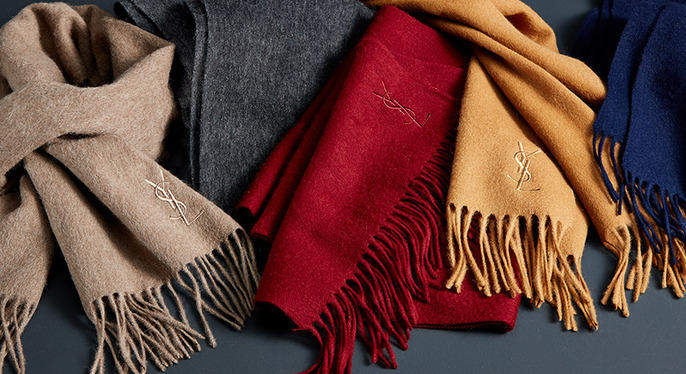 Up to 76% Off Select Yves Saint Laurent Scarves @ Saks Off 5th