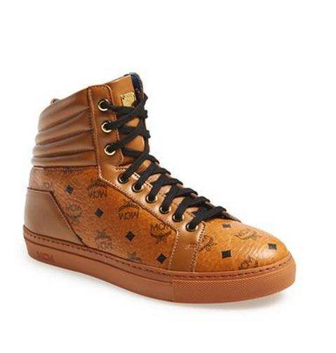 MCM 'Monogram' High Top Sneaker (Women)