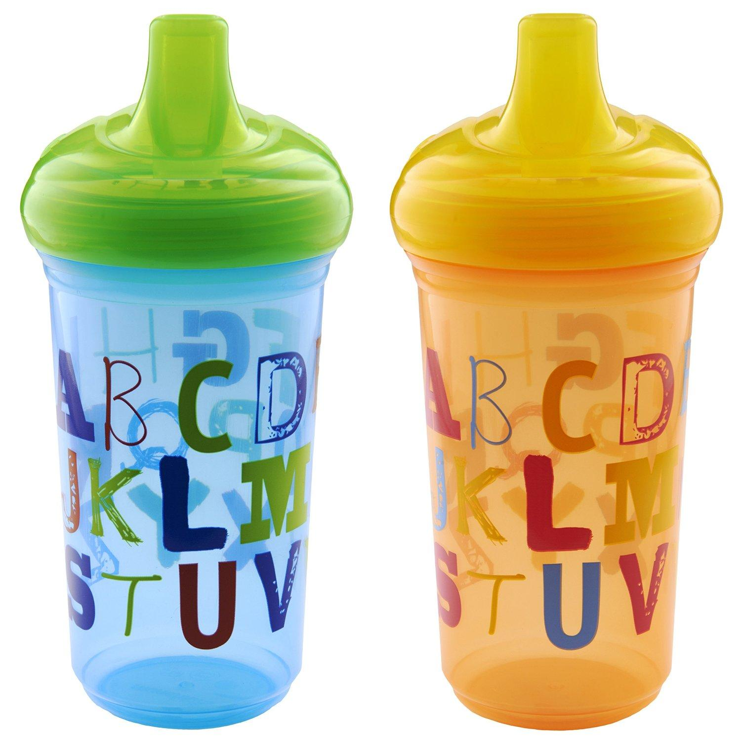 $5.39 Munchkin Alphabet Sippy Cup, 9 Ounce, 2 Count