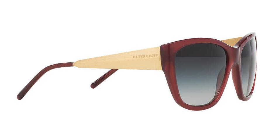 Burberry BE4174 656 Grey & Burgundy Sunglasses