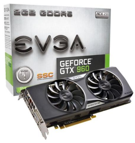 EVGA GeForce GTX 960 2GB SSC GAMING Graphics Card