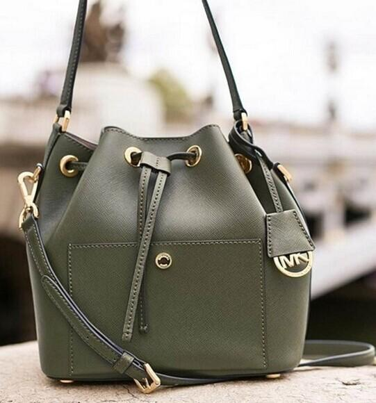 Greenwich Medium Saffiano Leather Bucket Bag @ Michael Kors