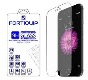 FORTIQUIP iPhone 6/6s Ultra Clear Ballistic Tempered Glass Screen Protector