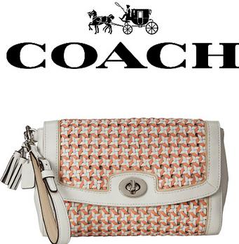 COACH Legacy Caning Large Flap Clutch