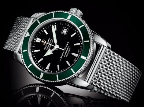 Breitling Men's SuperOcean Auto Chrono Stainless Steel Black Dial Green Bezel(Style: A2337036-BB81)