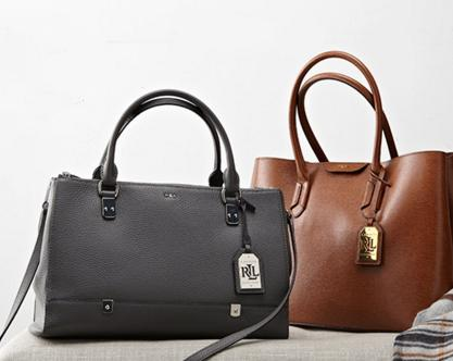 Up to 25% Off + Extra 25% Off Lauren Ralph Lauren Handbags Sale @ Macy's