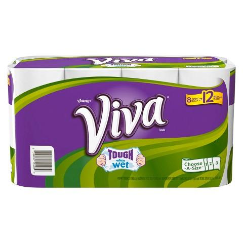 Viva Choose-A-Size White Paper Towels 8 Giant Rolls