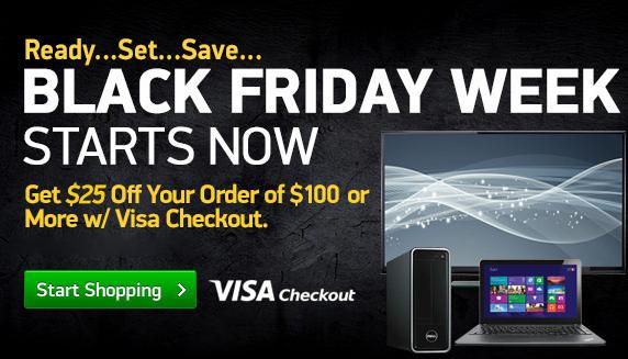 $25 off your order of $100+ with Visa Checkout @ TigerDirect.com