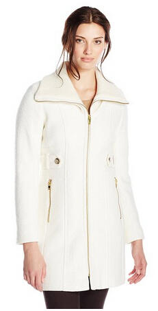 From$68.38 Via Spiga Women's Wool Coat with Knit Collar