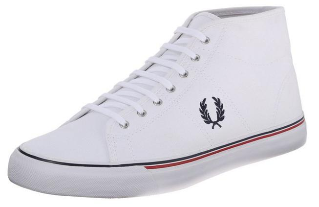 Fred Perry Men's Haydon Mid Canvas Fashion Sneaker