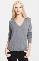 Cashmere V-Neck Rolled-Trim Sweater @ LastCall by Neiman Marcus