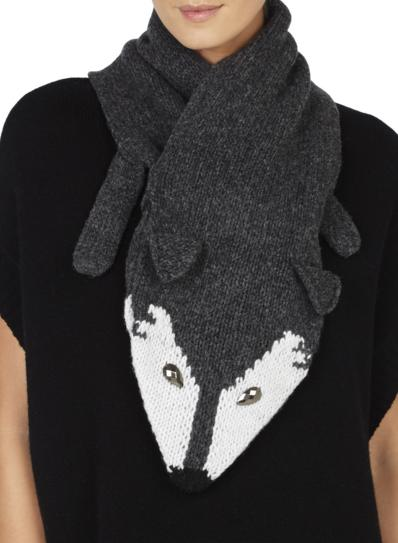 BCBGMAXAZRIA Mini Critter Pull Through Muffler On Sale @ 6PM.com