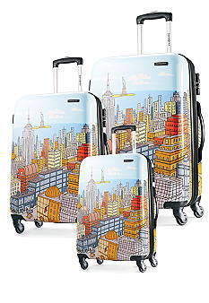 $299.99 Samsonite Nyc Cityscapes 3 Piece Set 20/24/28, Blue Print