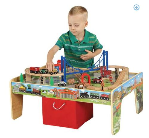 $49 50-Piece Train Set with 2-in-1 Activity Table