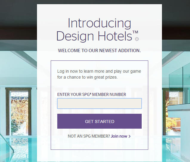 Win Free Ppints/ Free Night SPG Design Hotels Sweepstakes