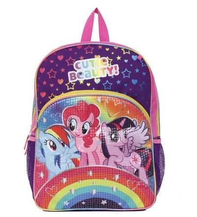 "$6.39 My Little Pony Little Girls' Rainbows Sequins 16"" Backpack"